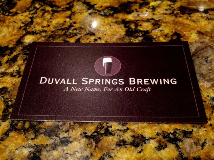 Duvall Spring's Brewing on tap July 21st!